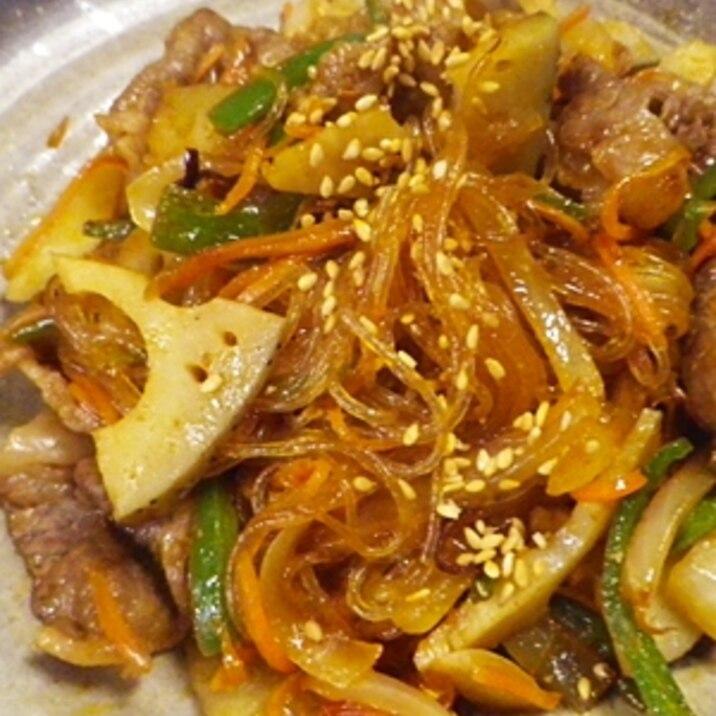 牛春雨野菜のコチュジャン炒め