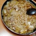 鍋つゆで♪鶏野菜うどん煮
