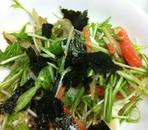 水菜と根菜のゴマだれサラダ