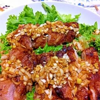 パリパリ衣の油淋鶏