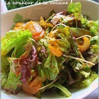 韓国焼肉屋さんのムンチサラダ(チョレギサラダ)