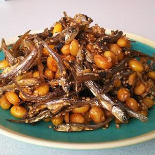 煮干しで作るおかず☆大豆といりこの甘辛煮
