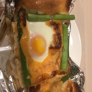 バルミューダでエッグトースト