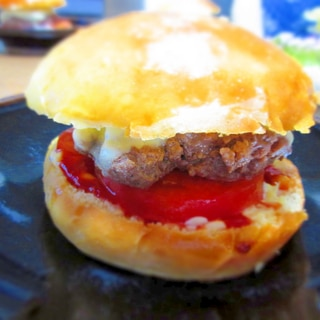 アメリカ風チーズバーガーをコストコの牛ひき肉で!