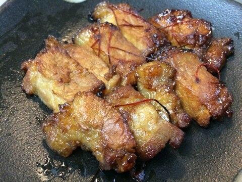 キャンプ飯★フライパンで簡単焼豚チャーシューBBQ