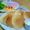 朝食にぴったり☆好きな具をはさんでパンケーキ。