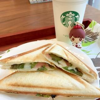 おうちカフェ13弾ビタントニオでハムチーズサンド♡