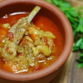 トルコ料理★羊肉と野菜の煮込み(ギュベッチ)