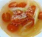 トマトとセロリの中華スープ