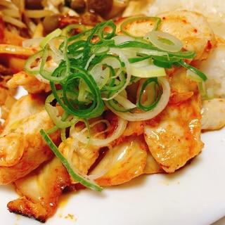 夏に食べたい★ささみとキムチの炒め物