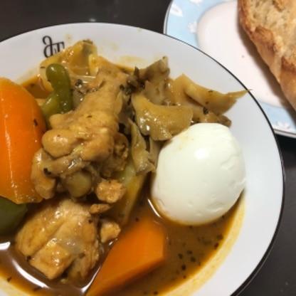 初めてスープカレーを作りましたが、思ってたより簡単に出来て、美味しかったです! ご馳走さまでした♪