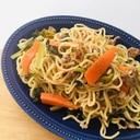 我が家の人気昼ごはん!野菜たっぷり塩焼きそば