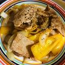 豚肉とパプリカの塩炒め