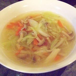 おかずスープ☆野菜ときのこの春雨スープ