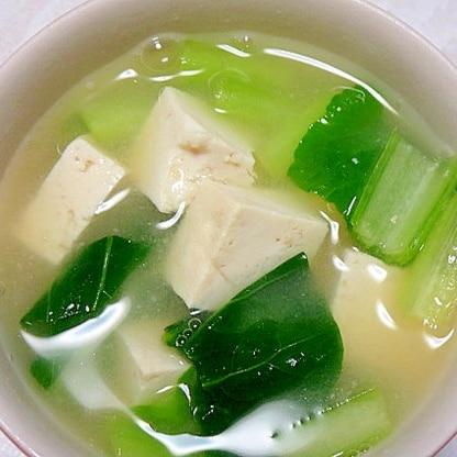 シンプルな小松菜の味噌汁