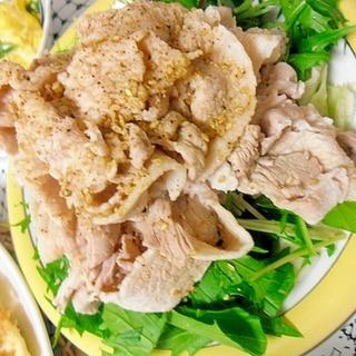 豚ともやしと水菜の冷しゃぶサラダ