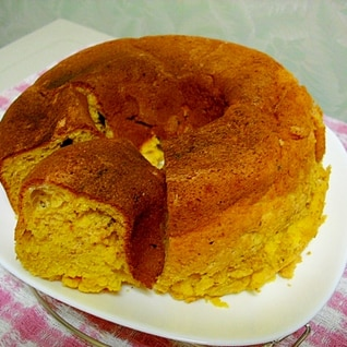 タミさんのパン焼き器で カボチャ&甘酒ケーキ