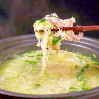 シャンタンで超簡単鍋~キャベツと豚肉とネギだけ~