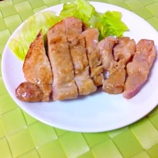 焼き方にコツ★豚ロースの味噌漬け