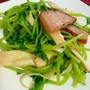 ☆ご飯が進む。豆苗とにんにくの炒め物☆