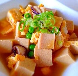 高野豆腐と卵の中華煮