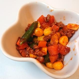 離乳食完了期 簡単!  野菜と挽肉のケチャップ炒め