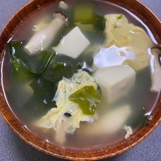 豆腐ワカメ卵♪スープ