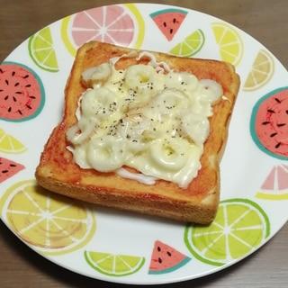 キャベちくピザトースト