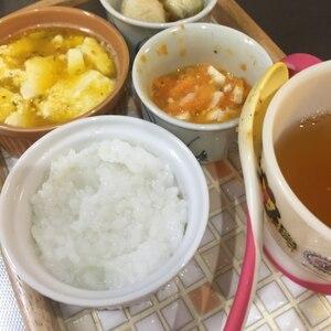 離乳食中期☆サツマイモと人参とパンと豆腐のトロトロ