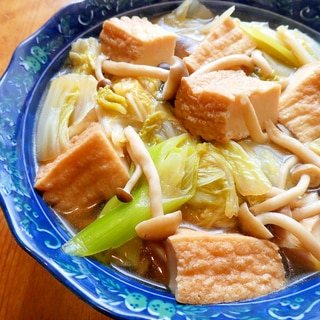 簡単☆絹厚揚げと白菜のクタクタ煮