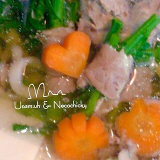 豚肉と春菊の『まきまき鍋』