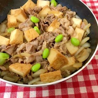 厚揚げで肉豆腐☆