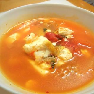 ぽかぽか*あまったキムチでスープ