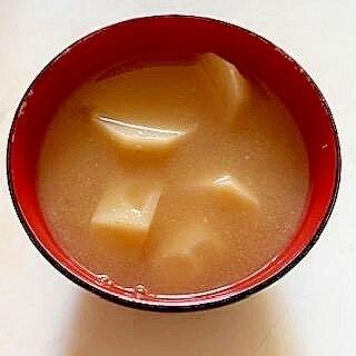 じゃがいもの味噌汁