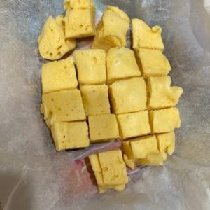 レンジで2分♪ふわふわ卵蒸しパン