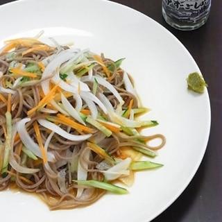 【簡単】さっぱりおいしい、蕎麦サラダ。