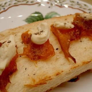 干し柿とクリームチーズのトースト