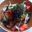 簡単サーモンと海苔丼