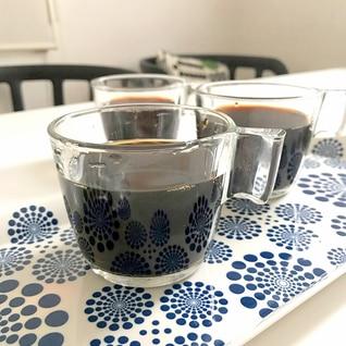 *黒豆入りコーヒーゼリー*
