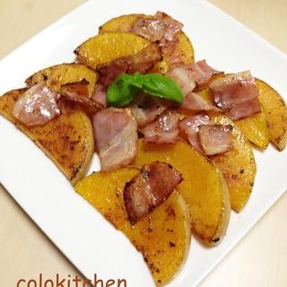 バターナッツかぼちゃとベーコンのオイル焼き