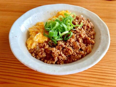 簡単お昼ご飯☆鶏そぼろ丼(2色)
