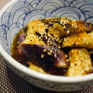 レンチンで簡単★ナスの中華風タレの和え物