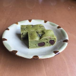 豆腐入り☆玄米茶とあんこのケーキ