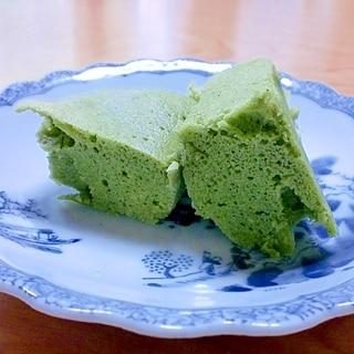 レンジでチン♪大豆粉100%の抹茶蒸しパン