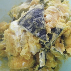 冷凍カボチャでかぼちゃのサラダ