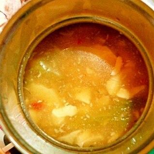 スープジャーであんかけ豆腐