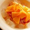 5分!寒天と種なし柿で❤メープル味デザート♪