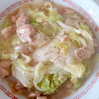 ★白菜と鶏肉の中華風餡かけ炒め★