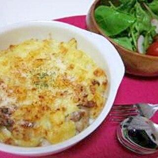 鶏肉とマカロニグラタン~お餅入り~