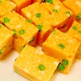 卵10個とグリーンピース☆寒天